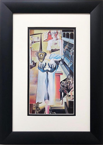 "Salvador Dali ""The Invisible Man"" CUSTOM FRAMED ART"