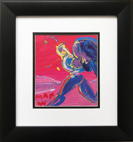 "Peter Max ""Running Angel"" Newly CUSTOM FRAMED Print"