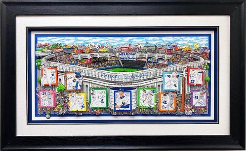 """Charles Fazzino """"In a Yankee State of Mind"""" FRAMED Signed & # Pop Art"""