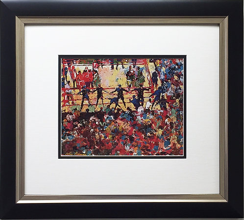 "LeRoy Neiman ""End of Ali-Frazier Fight 1971   "" Newly CUSTOM FRAMED Print BOXING"