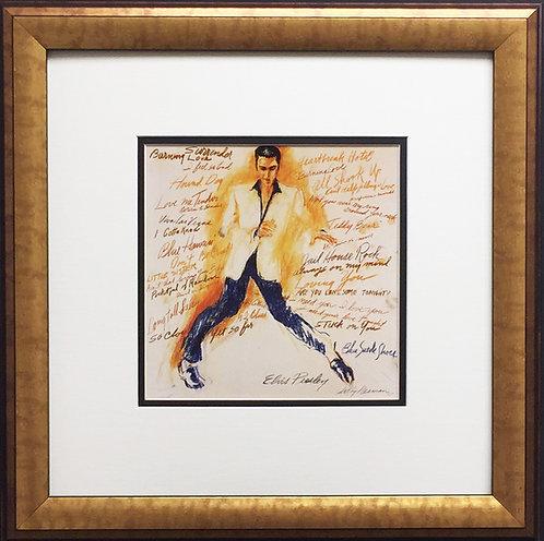 "LeRoy Neiman ""ELVIS PRESLEY"" Newly CUSTOM FRAMED Print Art - The king - litho"