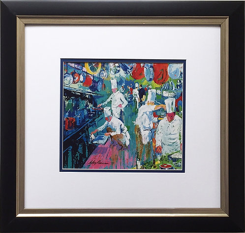 "LeRoy Neiman ""La Grand Cuisine"" Newly CUSTOM FRAMED Art Print CULINARY Kitchen"
