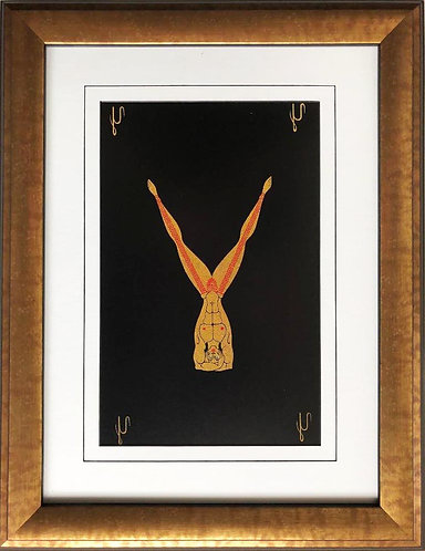 """Erte """"Y"""" CUSTOM FRAMED Vintage Print Art Deco Alphabet Letter Suite"""