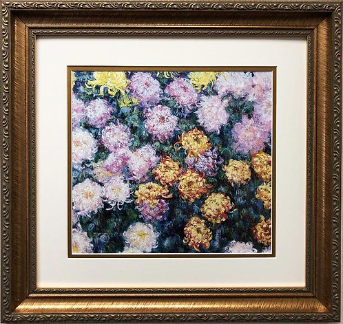 "Claude Monet ""Clump of Chrysanthemums 1897"" FRAMED Art"