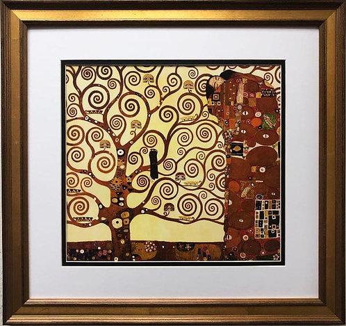 """Gustav Klimt """"The Fulfillment"""" Detail (Tree of Life) CUSTOM FRAMED ART"""