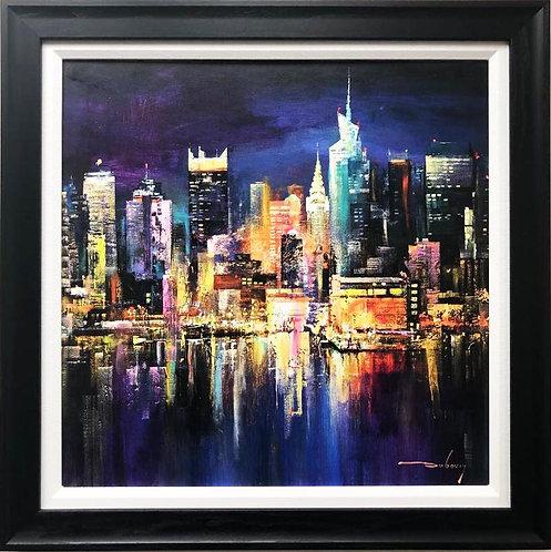 """Duboviy """"City Lights"""" CUSTOM FRAMED ART"""