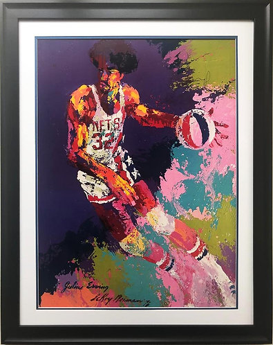 "LeRoy Neiman ""Julius Erving"" CUSTOM FRAMED Art"
