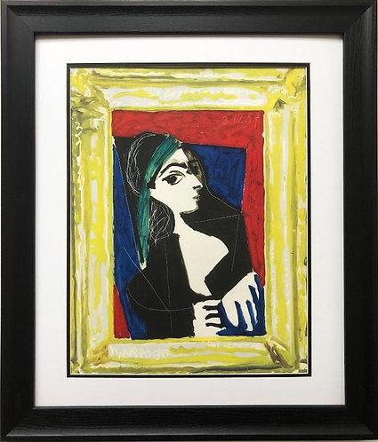 """Pablo Picasso """"Portrait de Jacqueline"""" CUSTOM FRAMED Lithograph"""