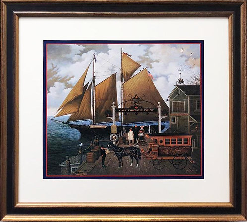 "Charles Wysocki ""Captain Kirby Beemish"" New FRAMED Art"