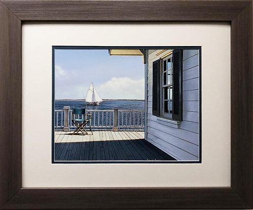 """Daniel Pollera """"On the Bay"""" New CUSTOM FRAMED Art"""