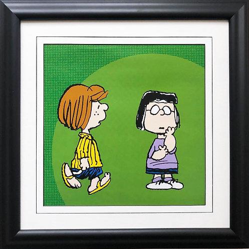 """Peanuts """"Patty & Marcie"""" NEW CUSTOM FRAMED ART Print"""