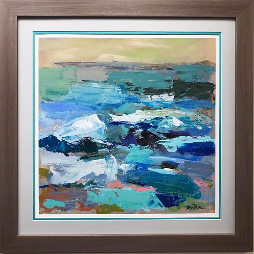 """Amy Dixon """"The Lagoon"""" CUSTOM FRAMED Print"""