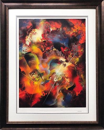 "Leonardo Nierman ""Sound of Color- Stravinsky"" Framed Art"