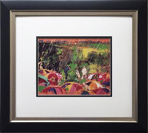 "LeRoy Neiman ""Arnie In The Rain"" FRAMED - MASTERS Tournament Augusta GOLF Palmer"