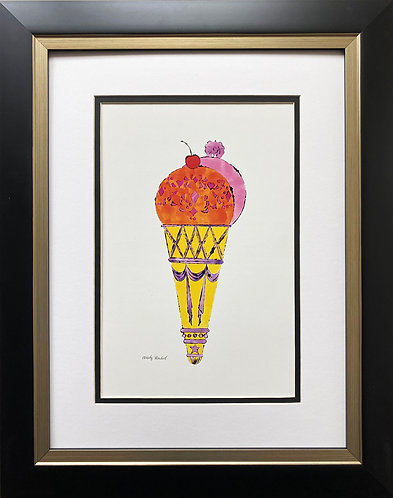 "Andy Warhol ""Ice Cream Dessert '59"" CUSTOM FRAMED Pop Art"