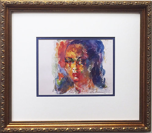 "LeRoy Neiman ""Billie Holiday - Lady Day"" Newly Custom FRAMED Art print JAZZ"