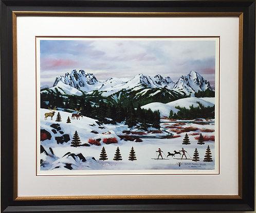 """Jane Wooster Scott """"Sawtooth Mountain Splendor"""" CUSTOM FRAMED Litho Hand Signed"""