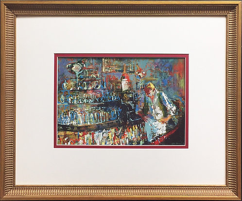 "LeRoy Neiman ""The Mixologist 1957"" Newly CUSTOM FRAMED Art Print - Bar Scene"