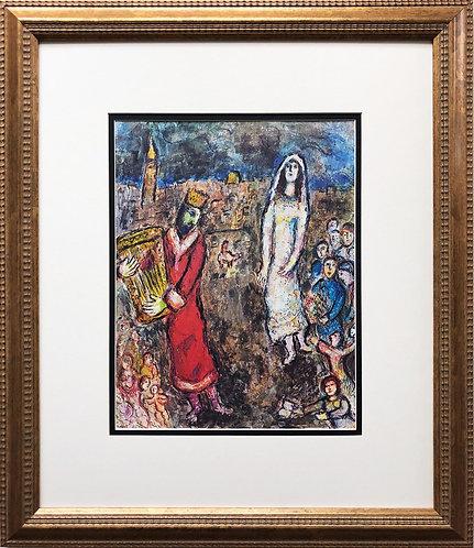 "Marc Chagall ""David and Bethsheba"" Newly FRAMED  Art Rare Offset Lithograph"
