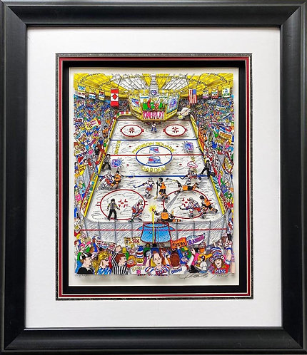 "Charles Fazzino ""Let's Go Rangers"" FRAMED Signed & # Pop Art"