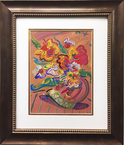 """Peter Max """"Vase with Flowers II"""""""