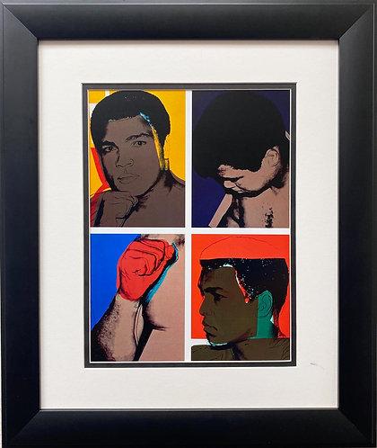 """Andy Warhol """"Muhammad Ali"""" 1978 CUSTOM FRAMED Pop Art"""