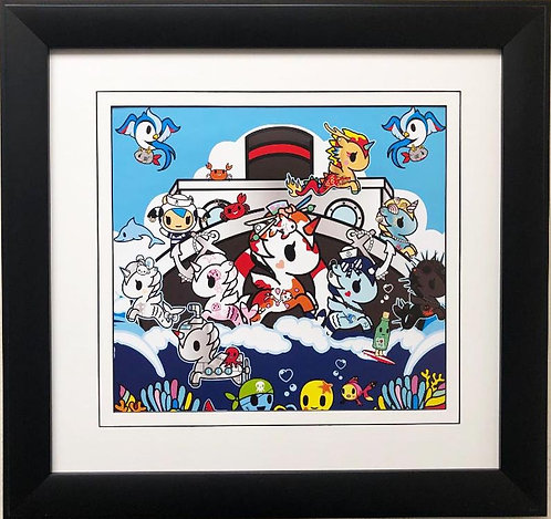"Tokidoki ""Cruising"" FRAMED ART"