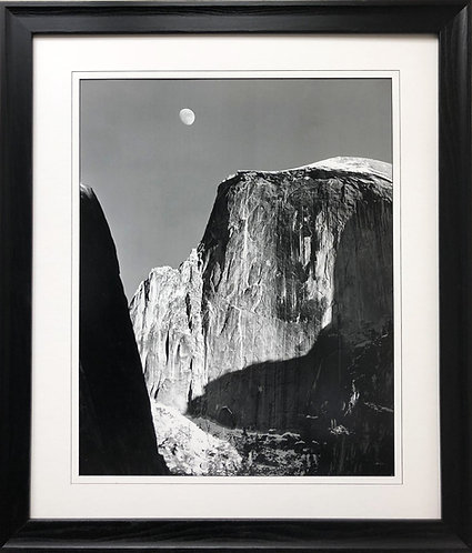 "Ansel Adams ""Moon and Half Dome"" Custom Framed NEW lithograph ART Yosemite Photo"