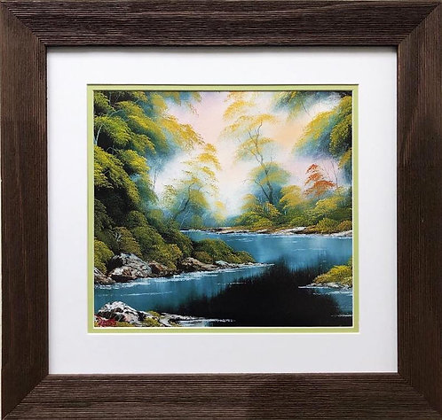 "Bob Ross ""Summer Breeze"" CUSTOM FRAMED ART"