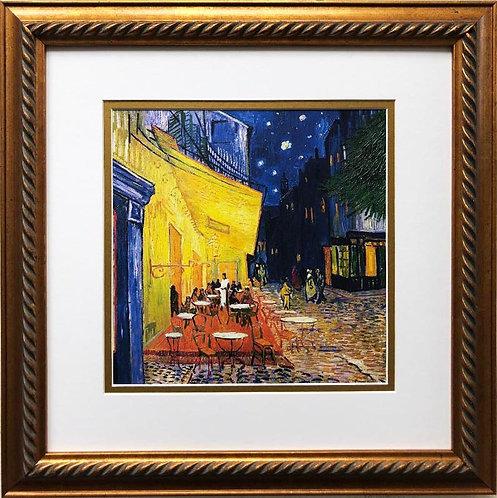 "Van Gogh ""Cafe Terrace at Night "" 1888 Framed Art Print"