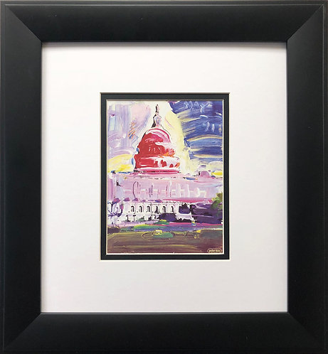 "Peter Max ""Congressional Arts Poster '91 "" CUSTOM FRAMED Congress Washington"
