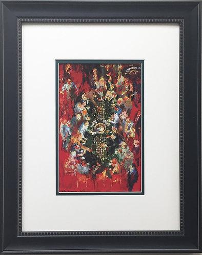 """LeRoy Neiman """"Double Roulette"""" CUSTOM FRAMED Art Print LAS VEGAS Atlantic City"""