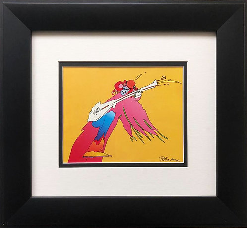 "Peter Max ""Jimmy Hendrix"" Newly CUSTOM FRAMED Print"