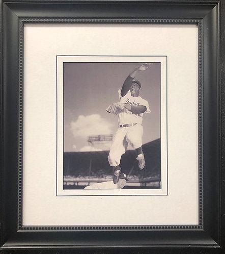 "Baseball ""Jackie Robinson"" FRAMED Black Sports Art Photograph"