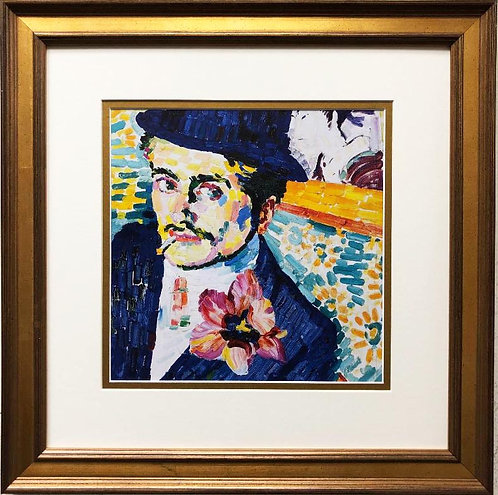 "Robert Delaunay ""Man With a Tulip "" Custom Framed Art Print"
