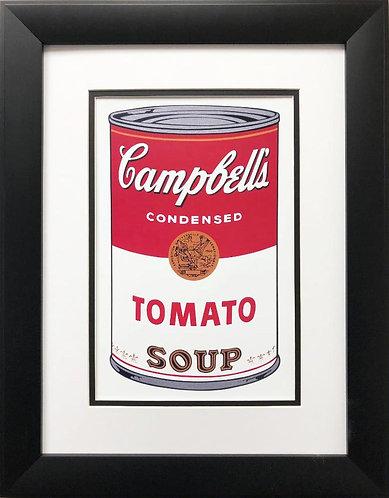 "Andy Warhol ""Campbell's Soup I: Tomato '68"" CUSTOM FRAMED Pop Art"