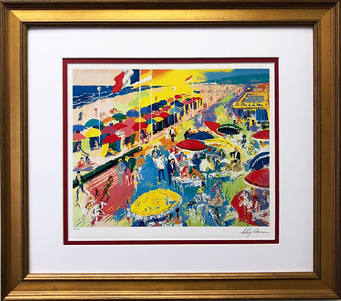 "LeRoy Neiman ""La Plage a Deauville"""