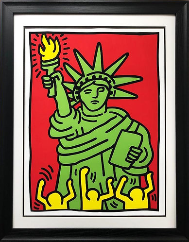 "Keith Haring ""Statue of Liberty, 1986"" CUSTOM FRAMED Print"