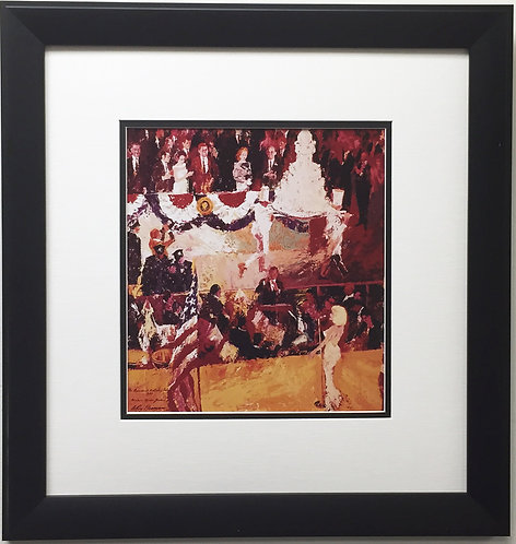 "LeRoy Neiman ""The President's Birthday Party"" CUSTOM FRAMED - JFK Marilyn Monroe"
