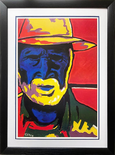 """Ted Ellis """"The Colored Man"""" Signed & # FRAMED African American Art New with COA"""