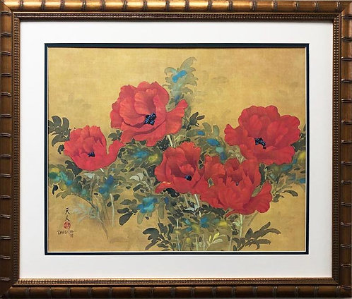 "David Lee ""Poppies"" New Custom Framed Art"