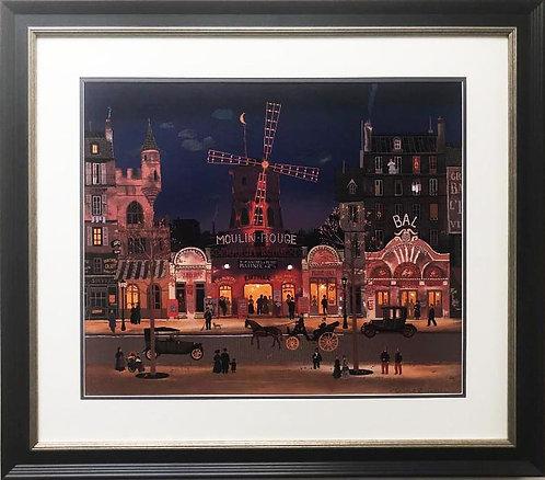 "Michel Delacroix ""Moulin Rouge"" Framed Lithograph Art"