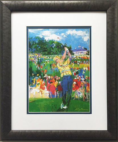 "LeRoy Neiman ""Augusta Golf - Jack Nicklaus"" Newly Custom FRAMED ART PRINT"