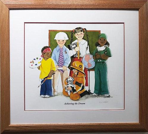 "Sylvia Walker ""Achieving the Dream"" FRAMED Hand Signed Art"