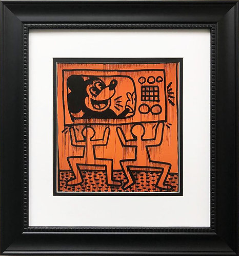 "Keith Haring ""Untitled #6"" CUSTOM FRAMED Print"