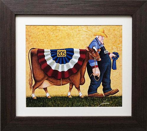 "Lowell Herrero ""First in Class"" New CUSTOM FRAMED Americana Art"