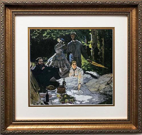 "Claude Monet ""Luncheon on the Grass"" CUSTOM FRAMED (Central panel) 1865-66"