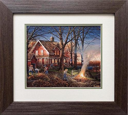 "about   Terry Redlin ""Autumn Evening"" CUSTOM FRAMED Rural America Art Print"