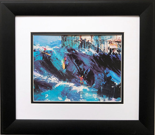 "LeRoy Neiman ""Surfing at Huntington Beach""  Waves Surf"
