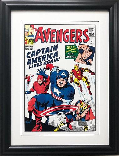 """Marvel """"The Avengers"""" # 4 Framed Comic Book Poster"""